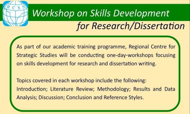Workshop on Skills Development for Research/Dissertation