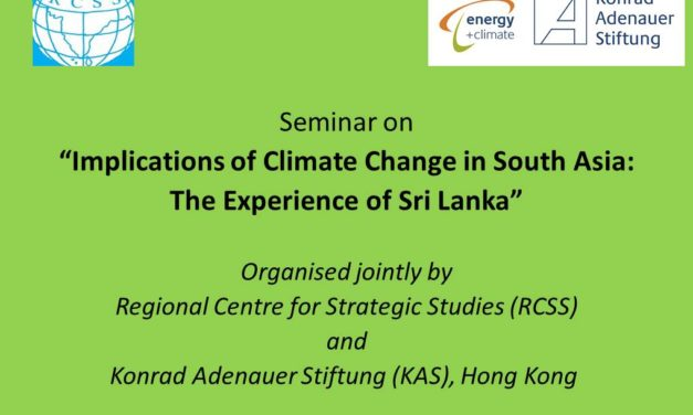 "Report on ""Implications of Climate Change in South Asia: The Experience of Sri Lanka"" Seminar"