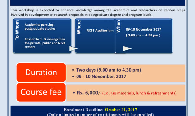 Workshop on Research Proposal Development