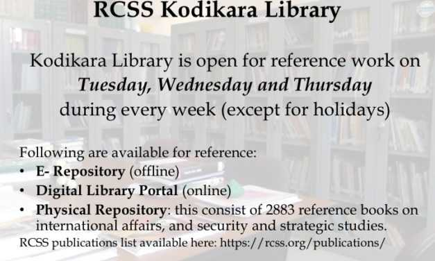 Kodikara Library Open for Reference Work