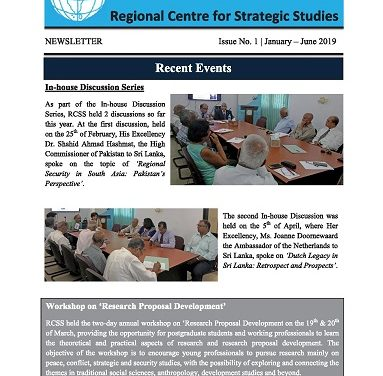 RCSS Newsletter 2019: Issue 1