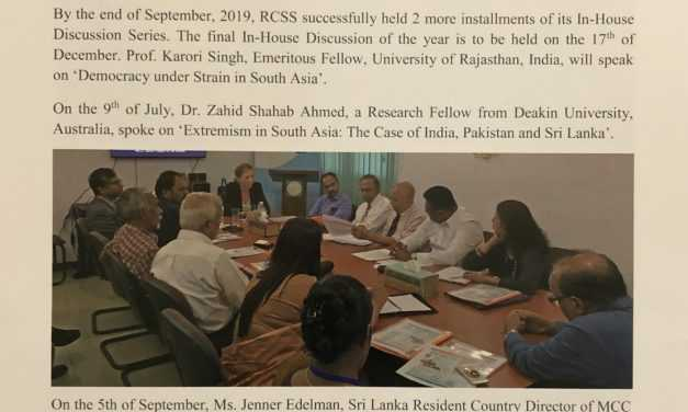 RCSS Newsletter 2019: Issue 2