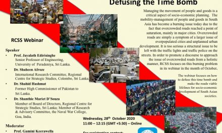 RCSS Webinar –  Over-crowded Roads in South Asia: Diffusing the Time Bomb